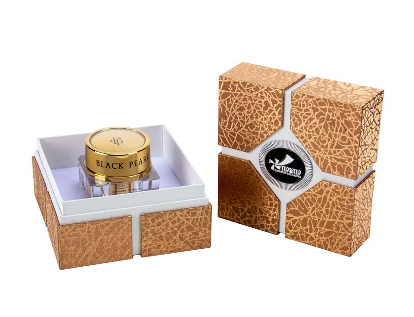 Square Golden Cosmetic Box